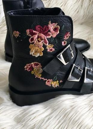 Нереально крутые кожаные ботинки zara ❤5 фото