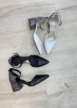 Нарядные кожаные туфли1 фото