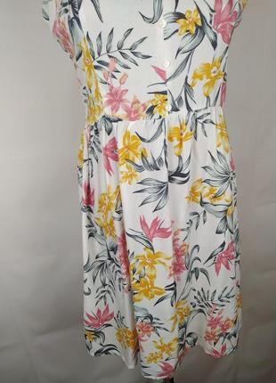 Платье новое модное натуральное h&m uk 8/36/xs4 фото