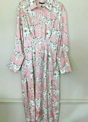 Стильное новое платье фасон рабашка, розовое на пуговках, миди с разрезами3 фото