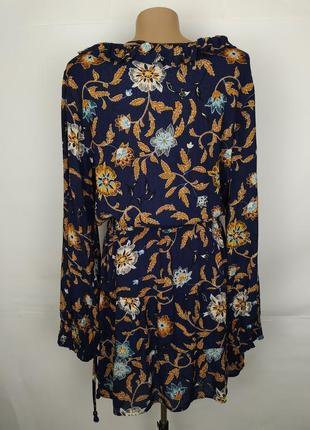 Платье новое стильное натуральное в принт s-m6 фото
