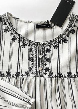 Рубашка, блуза с вышивкой reserved4 фото