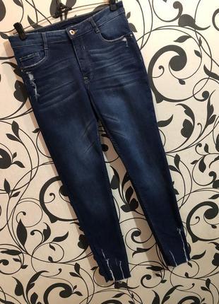Супер крутые джинсы стрейч с необработанным низом, р.м/л...👠🌹💋1 фото