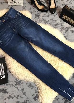 Супер крутые джинсы стрейч с необработанным низом, р.м/л...👠🌹💋2 фото
