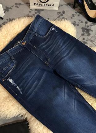 Супер крутые джинсы стрейч с необработанным низом, р.м/л...👠🌹💋4 фото