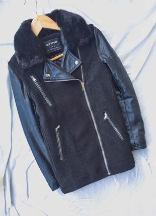 Тёплая куртка с примесью шерсти glo-story3 фото