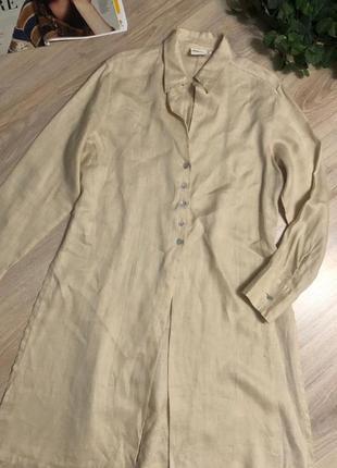 Натуральный лен стильный длинный кардиган накидка рубашка1 фото