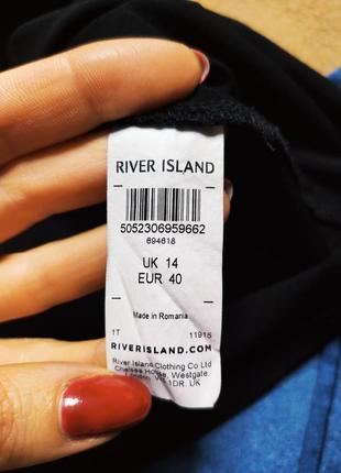 River island платье чёрное с вышивкой красные цветы трапеция прямое оверсайз9 фото