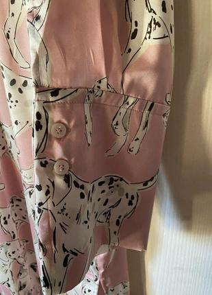 Стильное новое платье фасон рабашка, розовое на пуговках, миди с разрезами7 фото