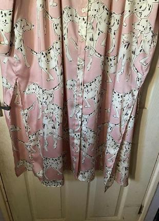 Стильное новое платье фасон рабашка, розовое на пуговках, миди с разрезами6 фото