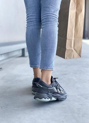 Adidas ozweego 🍏 стильные женские кроссовки адидас озвиго6 фото