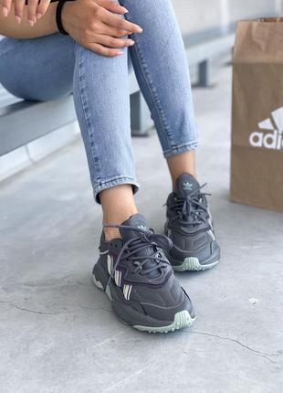 Adidas ozweego 🍏 стильные женские кроссовки адидас озвиго8 фото
