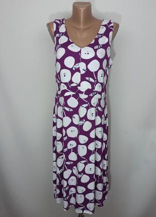 Платье новое стильное в принт оригинал white stuff uk 12/40/m1 фото