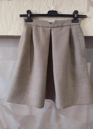 Юбка из плотной костюмной ткани с шерстью в составе jaeger1 фото