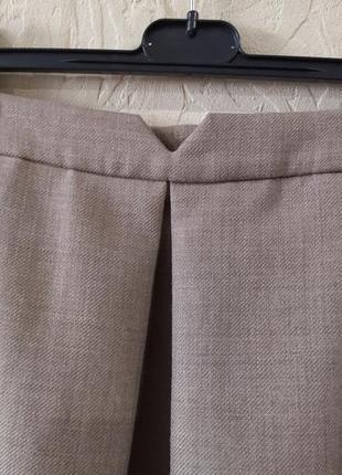 Юбка из плотной костюмной ткани с шерстью в составе jaeger3 фото