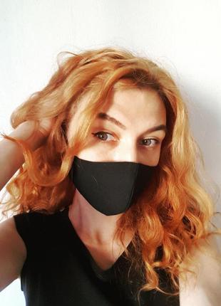 Многоразовая черная маска, 4 размера3 фото