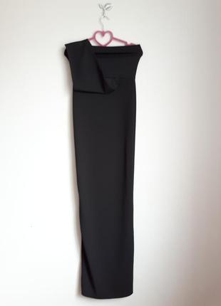 Шикарное вечернее черное платье макси на одно плечо 🔥plt🔥 длинное платье6 фото