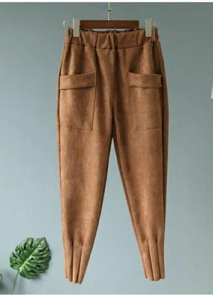 Женские брюки ( замш на дайвинге) батал✔️1 фото