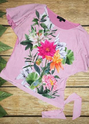 Блуза цветочный принт1 фото