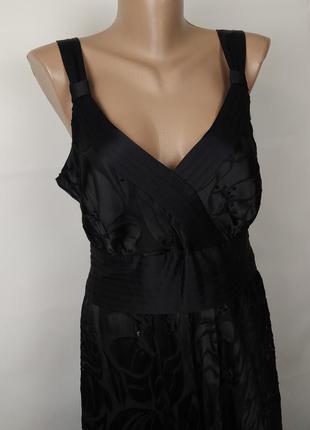 Платье шелковое шикарное в паетках monsoon uk 14/42/l2 фото