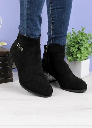 Женские ботинки на каблуке5 фото