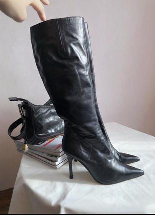 Итальянские кожаные ботинки brenda zaro, размер 36-36.52 фото