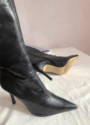 Итальянские кожаные ботинки brenda zaro, размер 36-36.57 фото