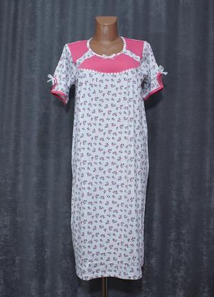 Ночнушка 48-60р., ночная рубашка, нічна сорочка бавовняна fazor