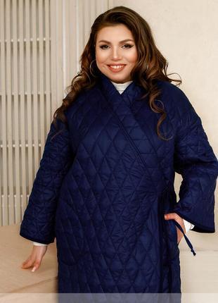 Стильна куртка з прошитої щільної тканини + безкоштовна доставка новою поштою
