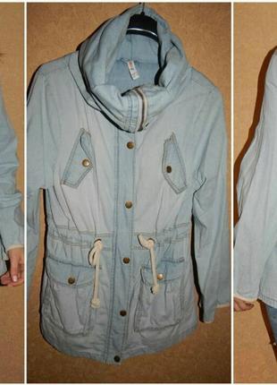 Джинсовая куртка парка размер м