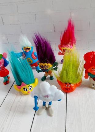 Тролли мистер облако, дикая дикси, розочка, цветан trolls мак дональдс