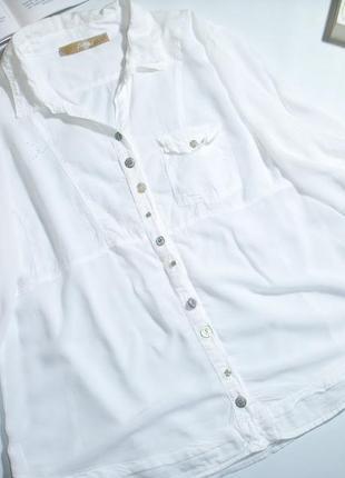 Шикарная белоснежная брендовая винтажная блуза bottega
