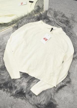 Новый оверсайз свитер с разрезами по бокам h&m