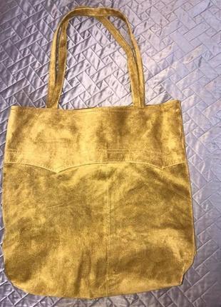 Натуральная замша сумка шоппер