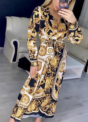 Принтованое турецкое платье креп шифон