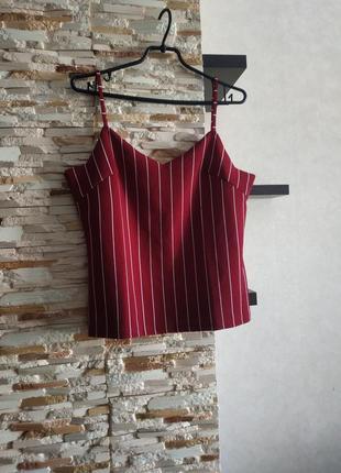 Блуза в полоску на брителях майка топ3 фото