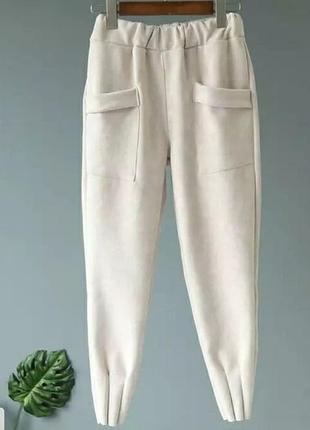 Женские брюки ( замш на дайвинге) батал✔️3 фото