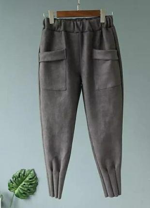 Женские брюки ( замш на дайвинге) батал✔️2 фото