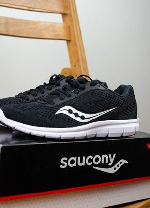 Оригинальные черные женские кроссовки из сша saucony ideal для бега (22.5 см)