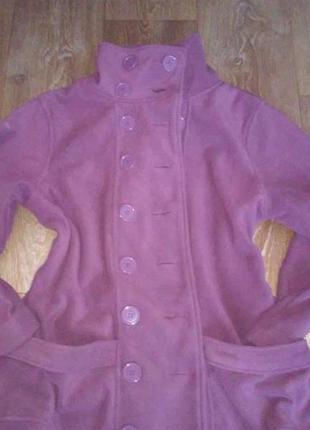 Теплый флисовый пиджачек,пальто