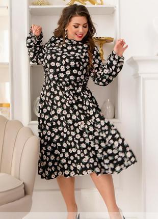 Ніжна сукня з яскравим принтом + безкоштовна доставка новою поштою