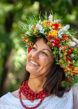 """Венок """"мавка"""" с полевыми цветами"""