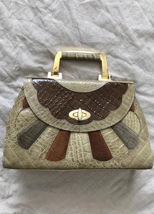 Шкіряна сумочка genuine leathery, італія