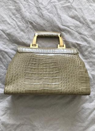 Шкіряна сумочка genuine leathery, італія2 фото