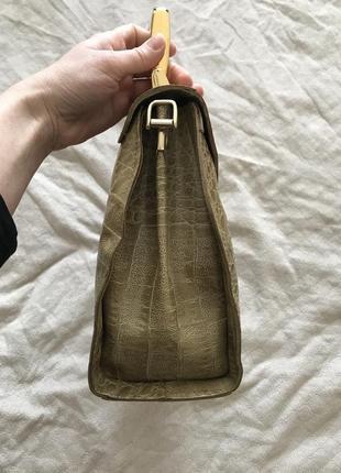 Шкіряна сумочка genuine leathery, італія3 фото