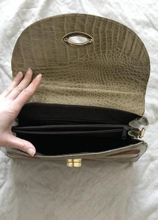 Шкіряна сумочка genuine leathery, італія4 фото