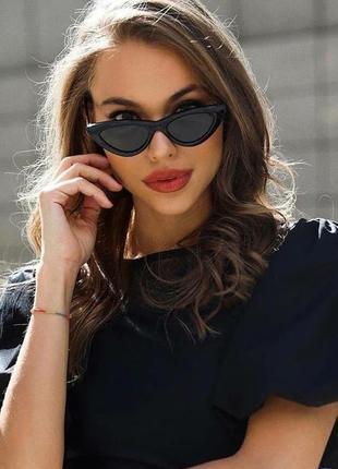Элегантные солнцезащитные очки лисички 49н