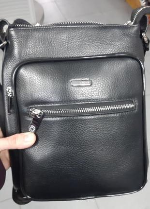 Мужская кожаная сумка karya 0594