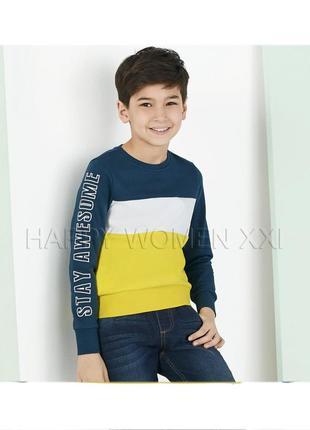 Свитшот для мальчика 2-4 года lupilu джемпер реглан кофта свитер