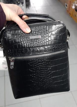 Мужская кожаная сумка  karya 0823